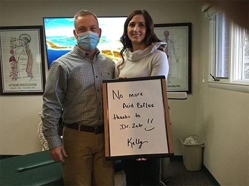 Zehr Chiropractic testimonials - Kelly